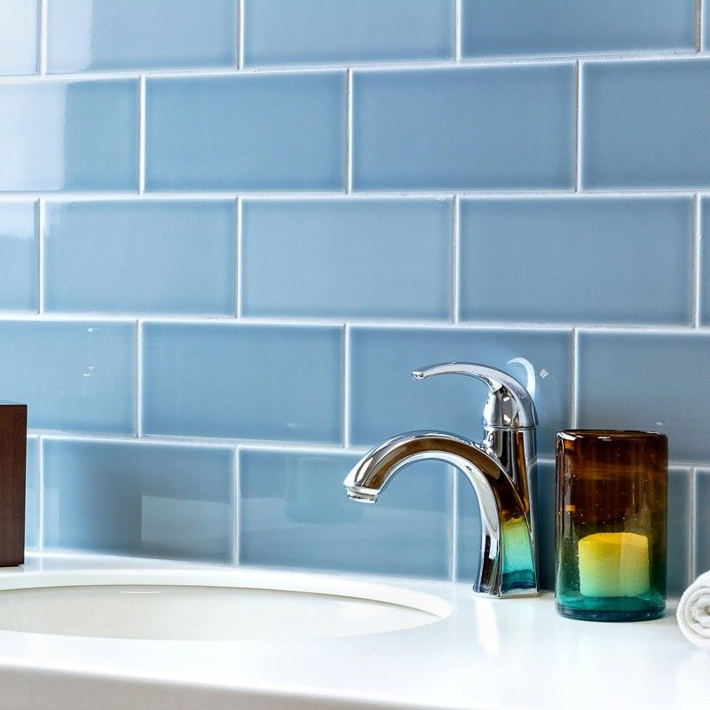 Vector Azul 4x8 Polished Ceramic Tile In 2020 Ceramic Subway Tile Ceramic Mosaic Tile Glazed Ceramic Tile