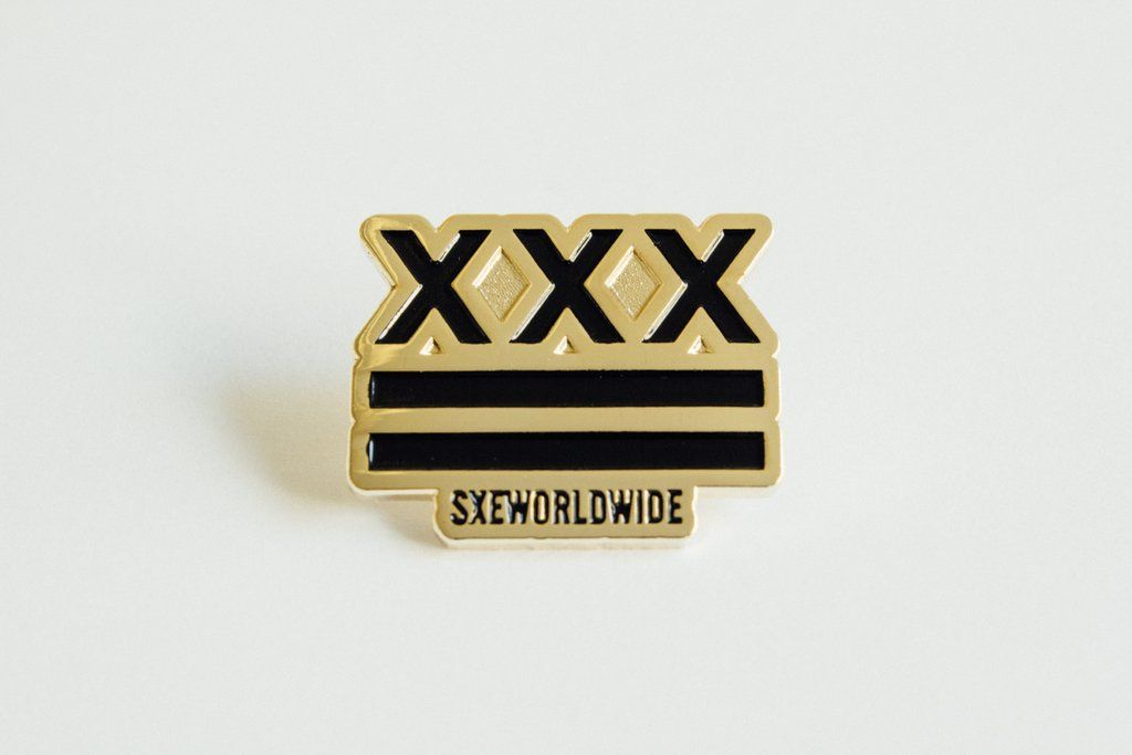 75cf782dbad36 Straight Edge SXE Flag Lapel Pin by STRAIGHTEDGEWORLDWIDE
