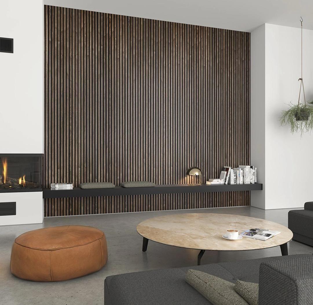 Acupanel Natural Walnut Acoustic Wood Panel   Wood panel walls ...