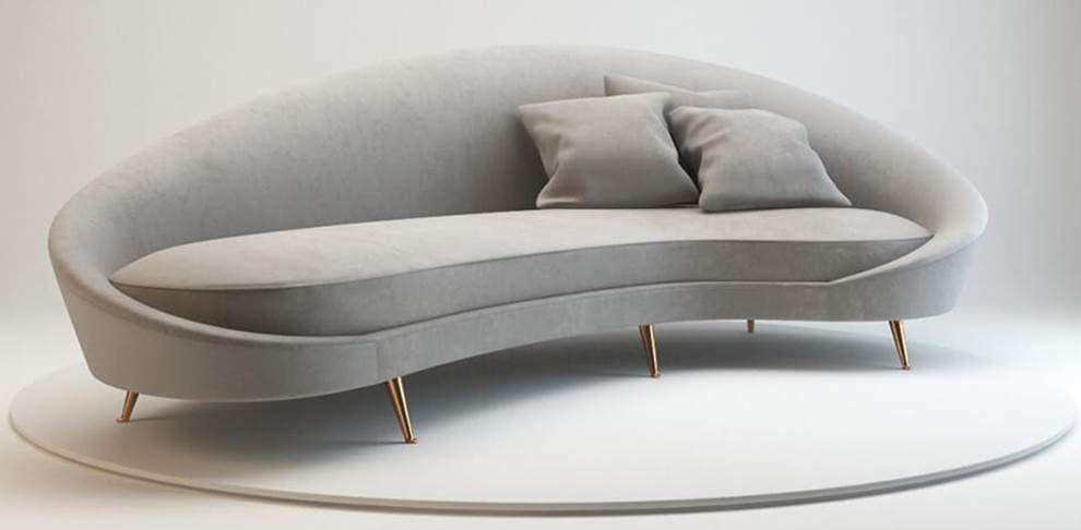Sofá curvo na decoração: dicas e ambientes decorados