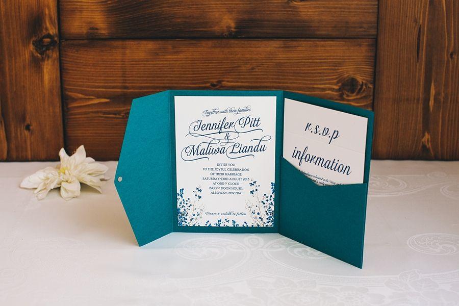 pocketfold wedding invitations - Cerca con Google   Wedding dresses ...