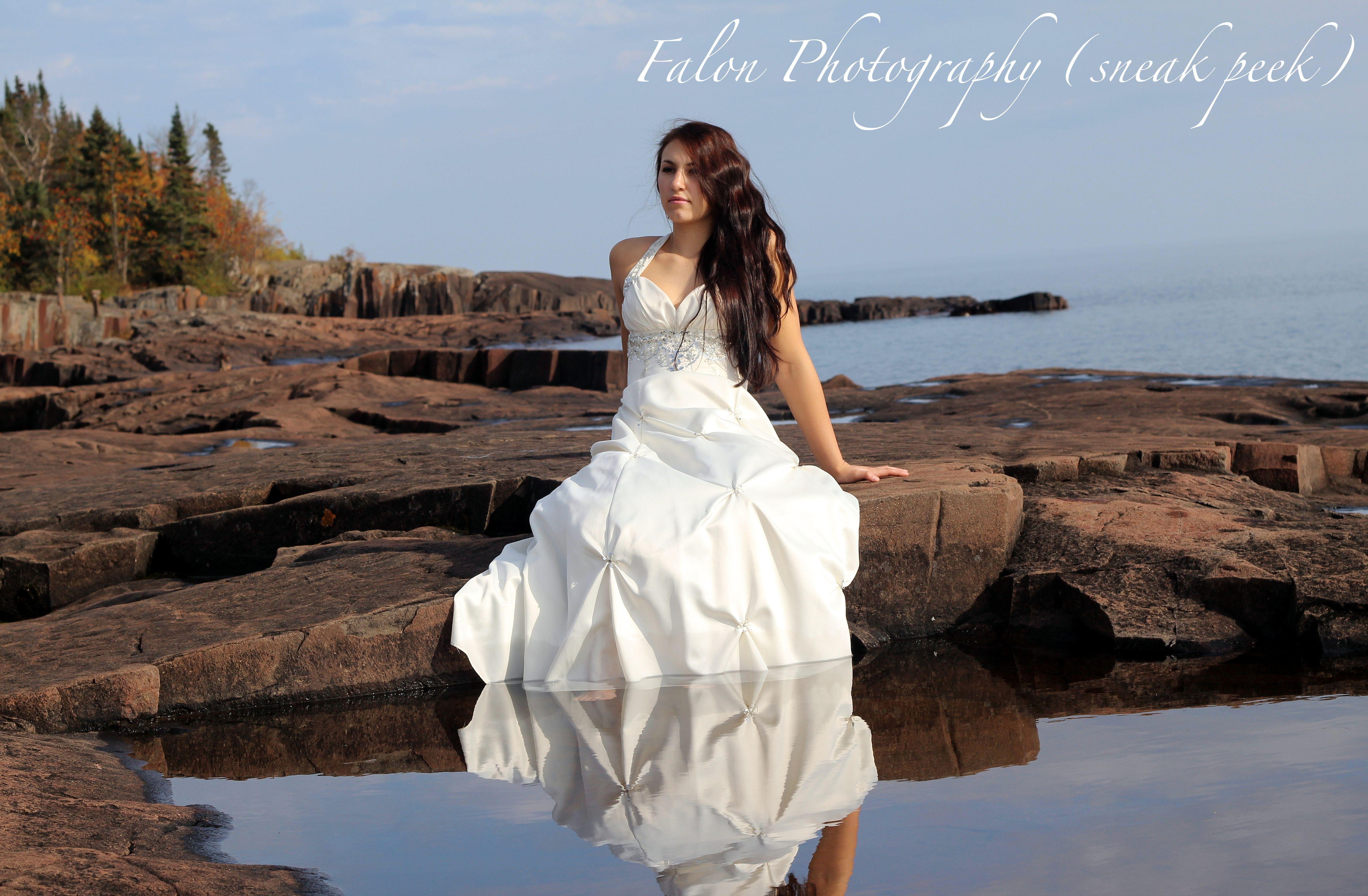 bride trash the dress wedding photography senior fashion