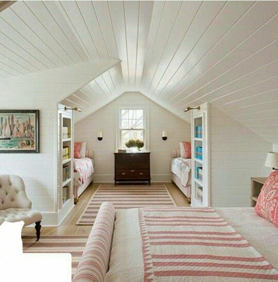 Guest Bedroom In The Attic Space Savvy Fits Big Family Attic Bedrooms Guest Bedroom Attic Renovation