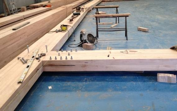 Structural beam laid out and assembled by VicBeam  « Australian Sustainable Hardwoods (ASH) | Manufacturer of GoodWood Victorian ash timber
