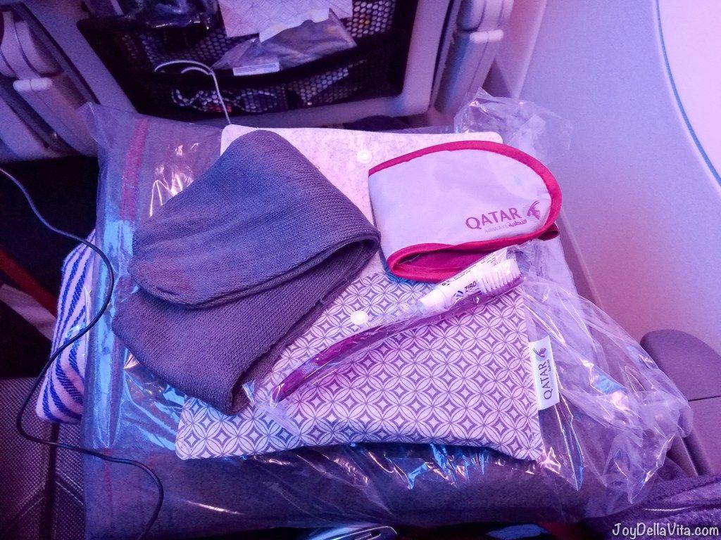 632287cbf87c Qatar Airways Economy Class Amenity Kit JoyDellaVita