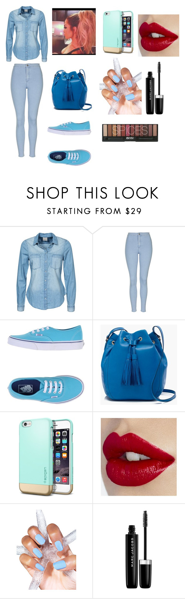 """""""Blue Fashion"""" by jaden-norman on Polyvore featuring Vero Moda, Topshop, Vans, J.Crew, Marc Jacobs, women's clothing, women, female, woman and misses"""