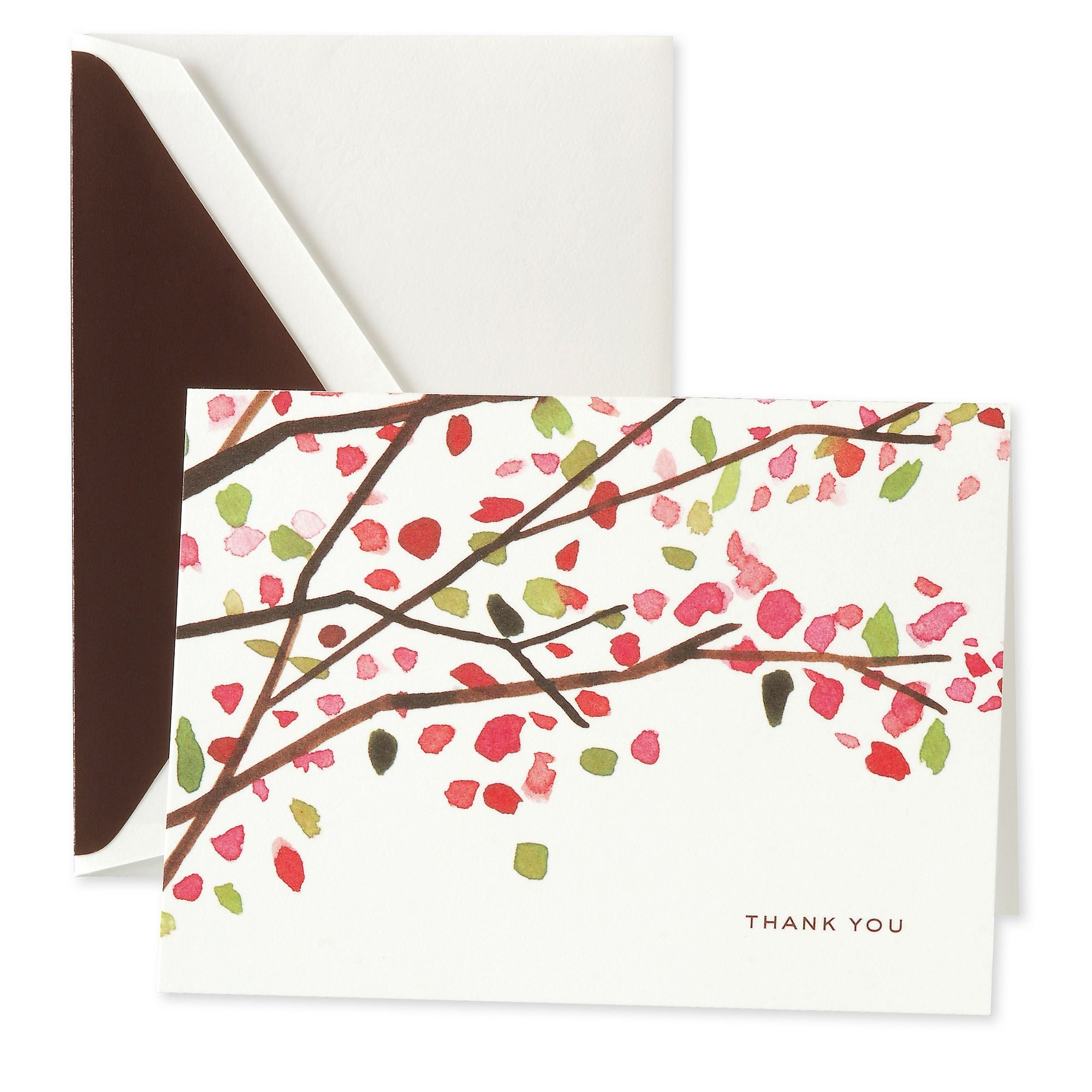 kate spade Cherry Blossoms Thank You Note Card ...