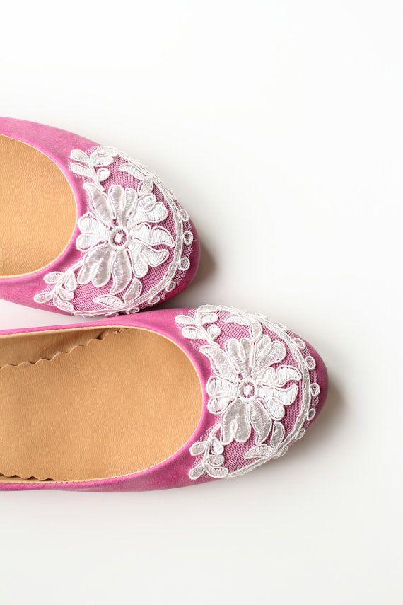 Wedding Flats Shoes Bridal Pink Velvet Flat Shoes by madebydemet