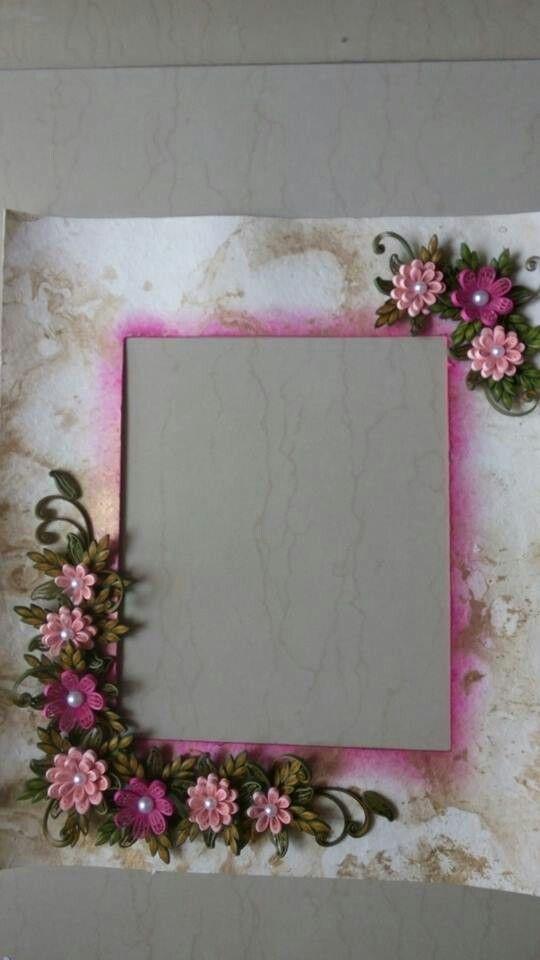 Quilled Flowers & Leaves | cadre photo | Pinterest | Bilderrahmen ...