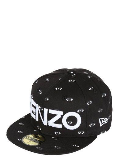a679c041f4ba2 KENZO - EYE PRINTED BASEBALL HAT - LUISAVIAROMA - LUXURY SHOPPING WORLDWIDE  SHIPPING - FLORENCE
