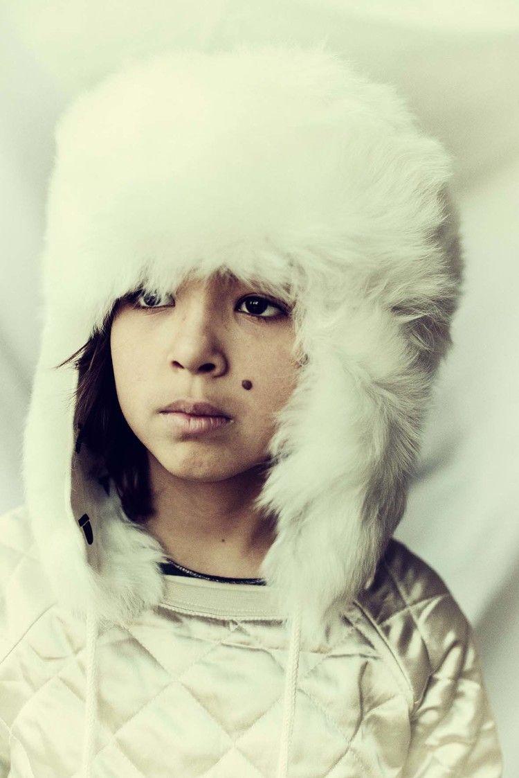 portraits opalescents / 12 kid portraits shot for Playtime Paris 2014 #waddler fur hat #shampoodle