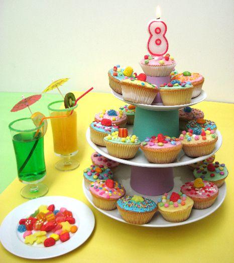 cupcakes danniversaire gateau anniversaire filleide - Gateau Anniversaire Fille 8 Ans