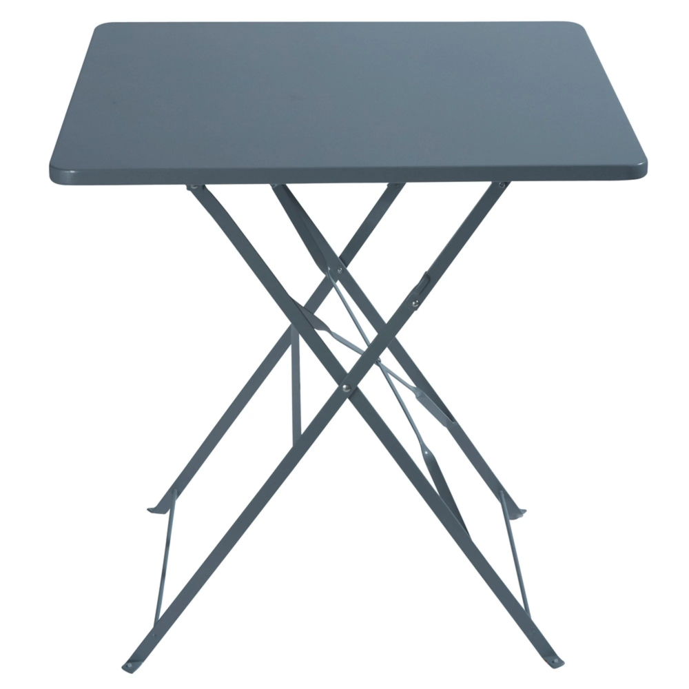 Table De Jardin Pliante En Metal Epoxy Gris 2 Personnes L70 Table De Jardin Pliante Table De Jardin Et Table Pliante