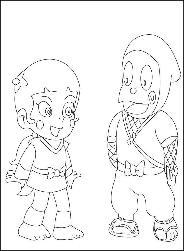 ninja hattori coloring pages to print | Coloring Pages For Kids ...