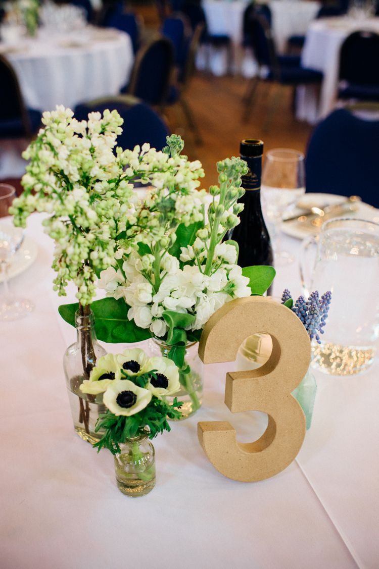 Cardboard Table Numbers Relaxed London Vintage Spring Wedding http://www.mariannechua.com/