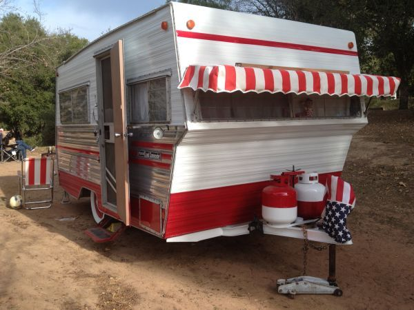 Love Front Awning 1969 Aristocrat Travel Trailer Land