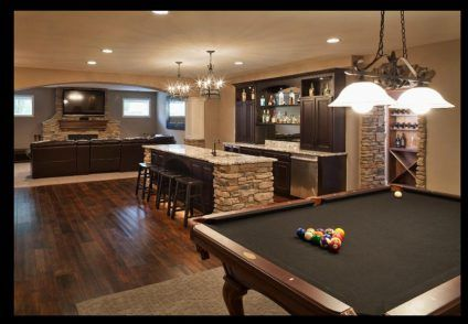Man cave mom cave finished basement basements bar for Bar dans une maison
