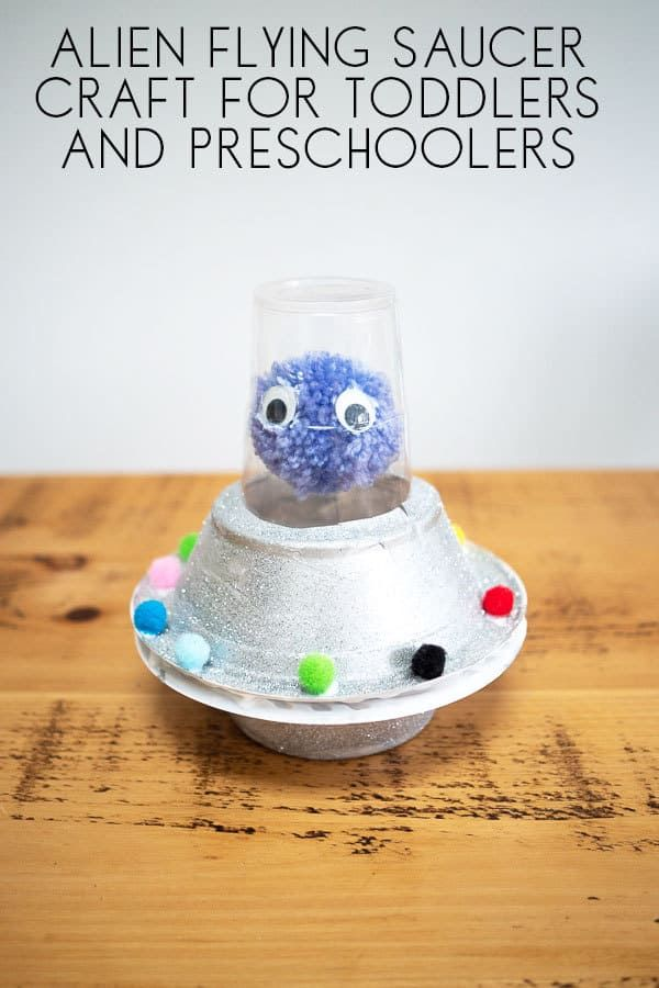 Flying sauce and alien craft to make with toddlers and preschoolers inspired by Aliens Love Panta Claus