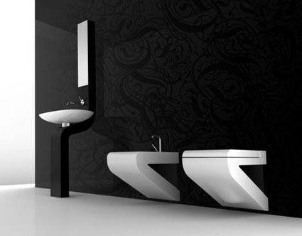 Para espacios pequeños, nos gusta el mueble de lavabo de aspecto - mueble minimalista