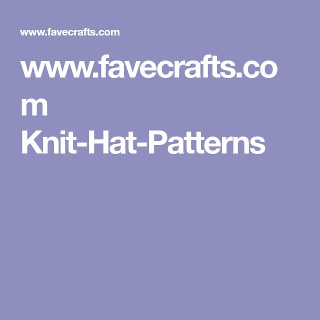 www.favecrafts.com Knit-Hat-Patterns (With images)   Hat ...