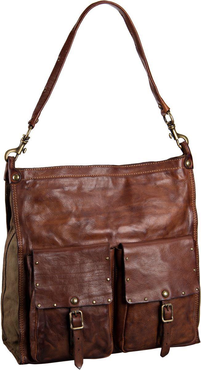Stark und selbstbewusst wie die Frau, die sie trägt: Exklusive Handtasche von Campomaggi aus toskanischem Rindleder mit abnehmbarem Henkel und Schultergurt. Maße: 34x35x15 cm.