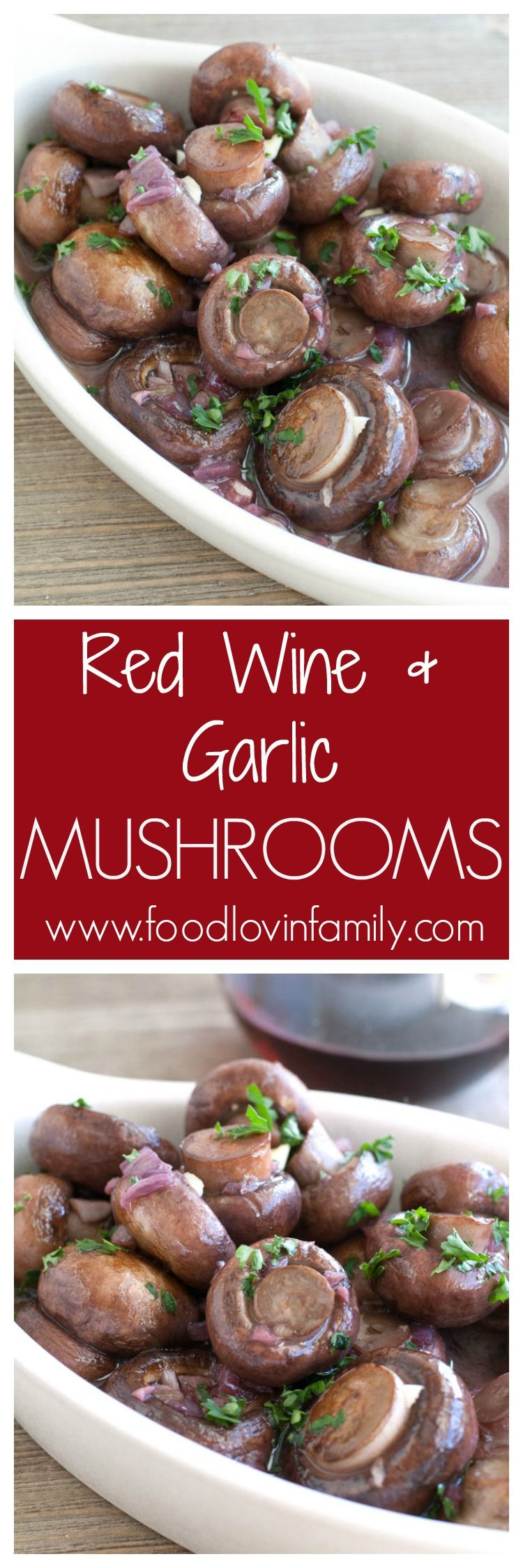 Red Wine And Garlic Mushrooms Are A Simple And Elegant Side Dish Serve For A Dinner Party The Holida Stuffed Mushrooms Garlic Mushrooms Vegetable Side Dishes