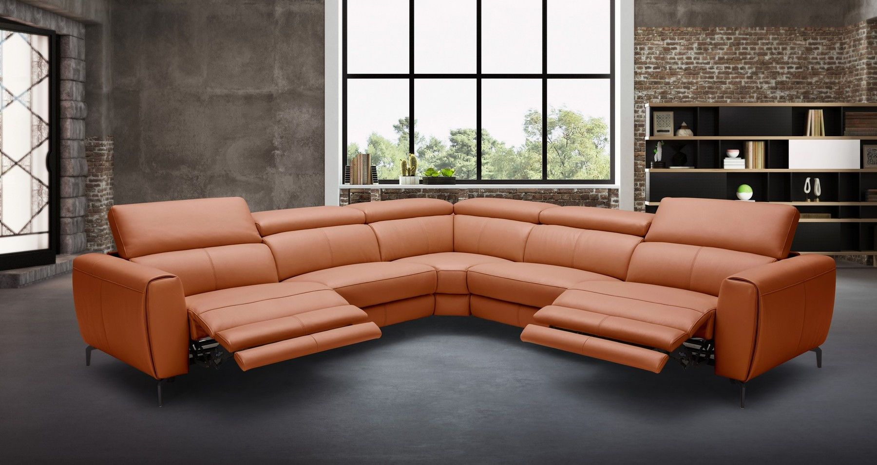 Lorenzo Sectional Sofa 18347 J M Recliners Leather Reclining Sectional Reclining Sectional Leather Sectional Sofas