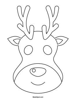 Printable Reindeer Mask Reindeer Decorations Kindergarten Christmas Crafts Reindeer Face