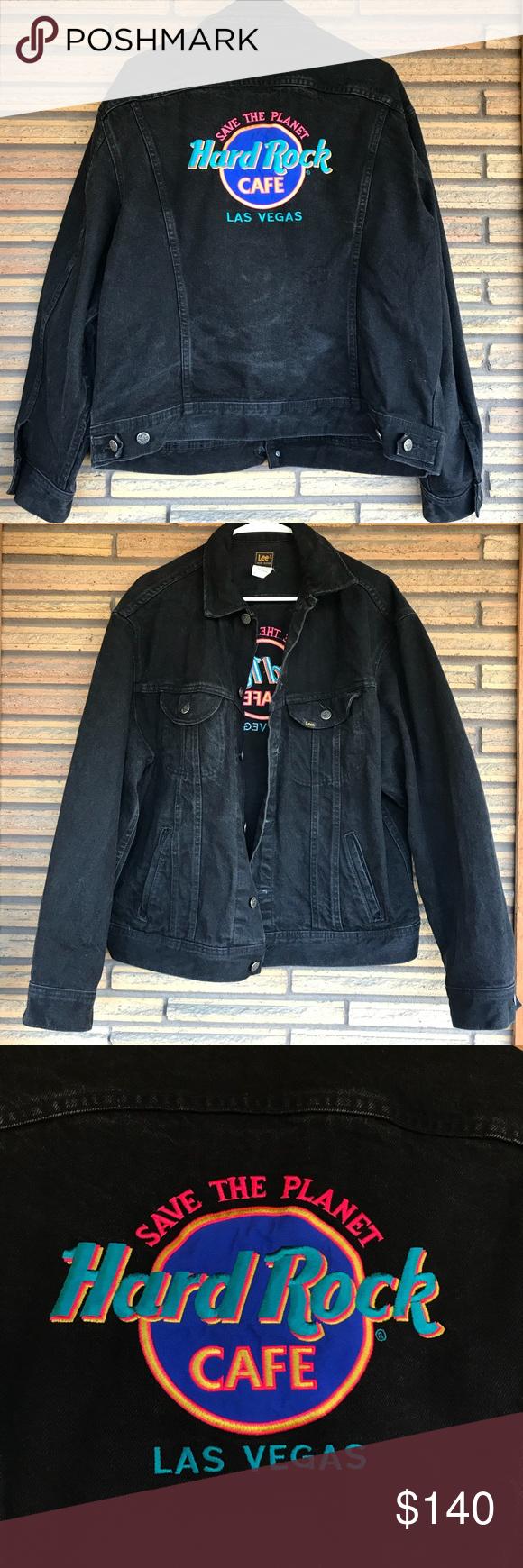 Hard Rock Cafe Black Lee Jean Jacket Women S L Jean Jacket Women Vintage Jean Jacket Cafe Jacket [ 1740 x 580 Pixel ]