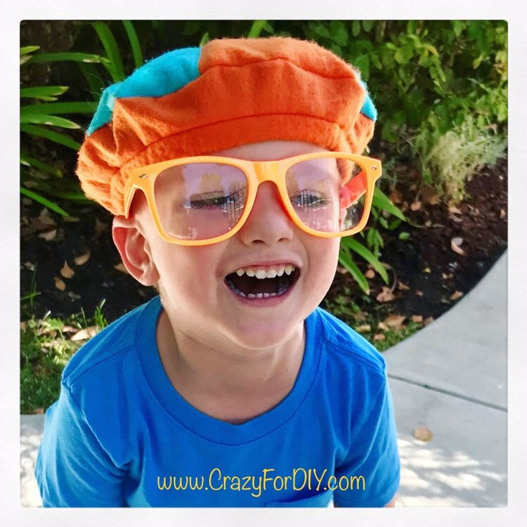 9da830c5abc67 Blippi Felt Hat Beret DIY – Crazy for D.I.Y.