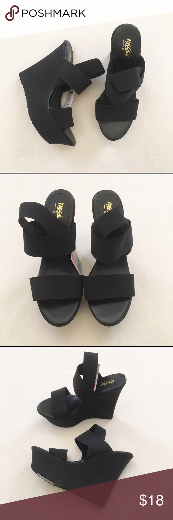 NWT Chunky Heels All sales will go towards my medical school tuition :)  Bundle for additional discounts. Reasonable offers are welcomed! LOW BALL OFFERS WILL BE IGNORED. Mossimo Supply Co Shoes Wedges