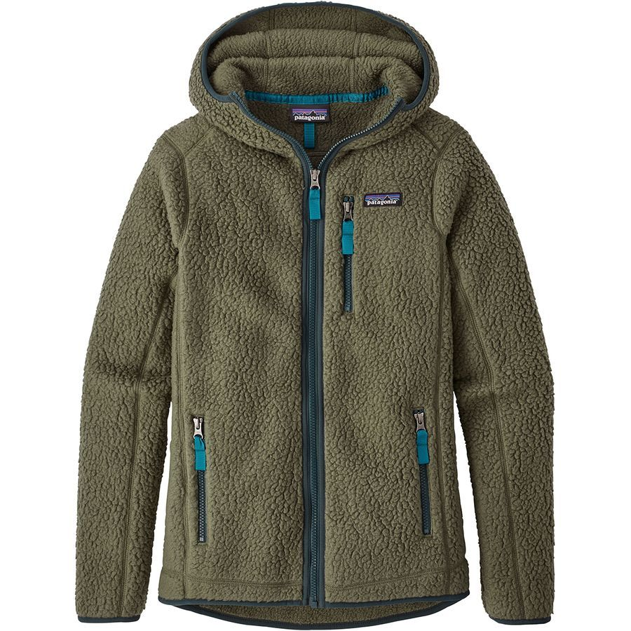 Patagonia - Retro Pile Hooded Jacket - Women's - Industrial Green