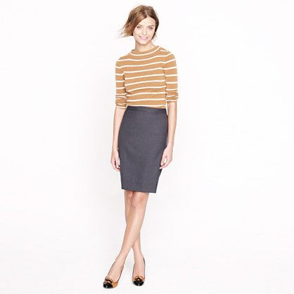 Pencil Skirt and striped sweater