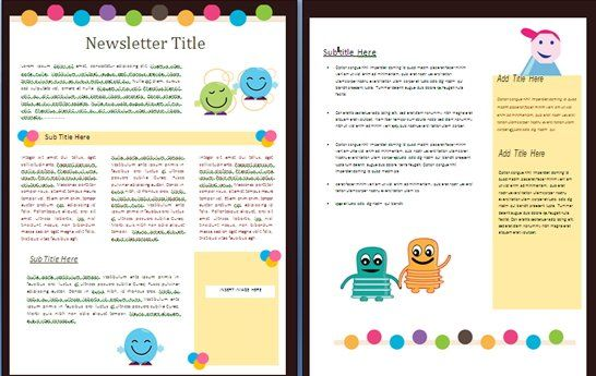 Colourful Blank Newsletter  Ideas For Work