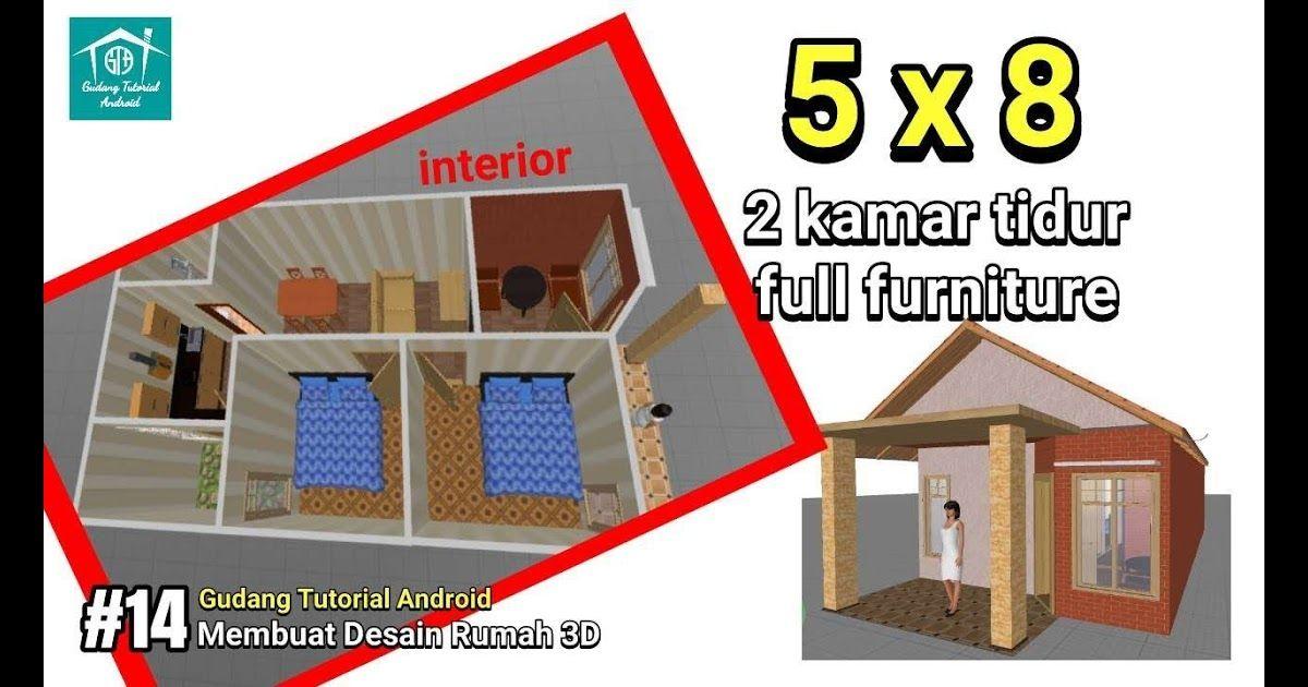Desain Rumah Minimalis 2 Kamar Uk 5x8 Full Interior Gambar Desain Rumah 5x8 Tukang Desain Rumah 64 Desain Rumah Minimalis 5 Di 2020 Desain Desain Rumah Kamar Tidur