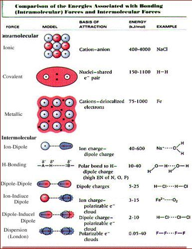 Summary of intramolecular and intermolecular forces Erfolg