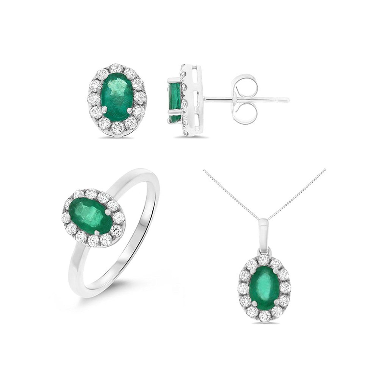 list stud emerald p w gold htm earrings emeralds price natural with white