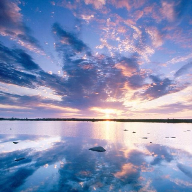 amazing reflected sky