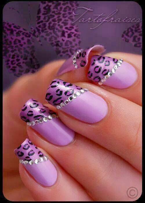 Fashion For Women: Purple color animal design nail polish   nail ...