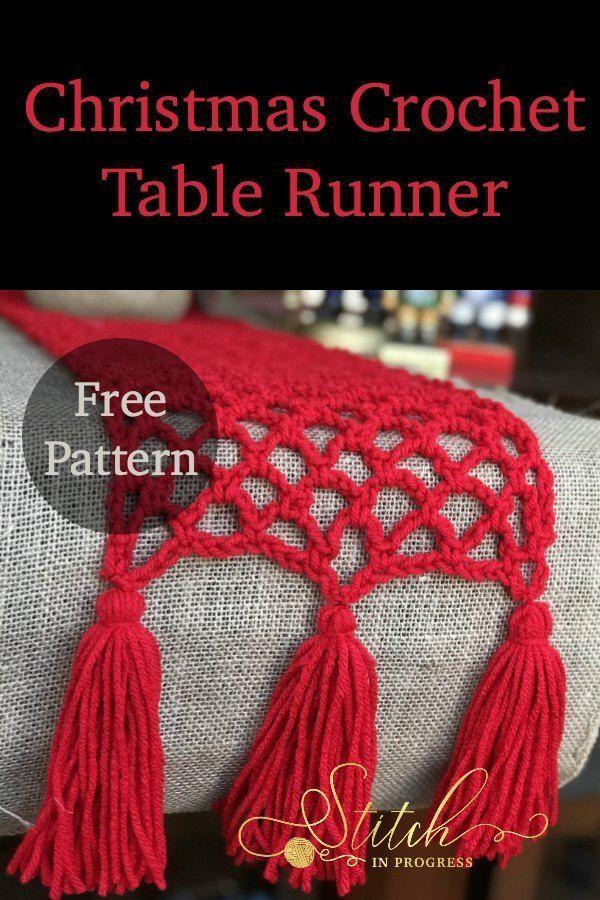 Christmas Crochet Table Runner Crochet Runners Hakeln Hakeln