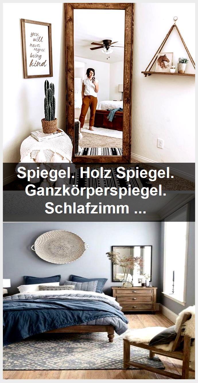 Spiegel. Holz Spiegel. Ganzkörperspiegel. Schlafzimmer