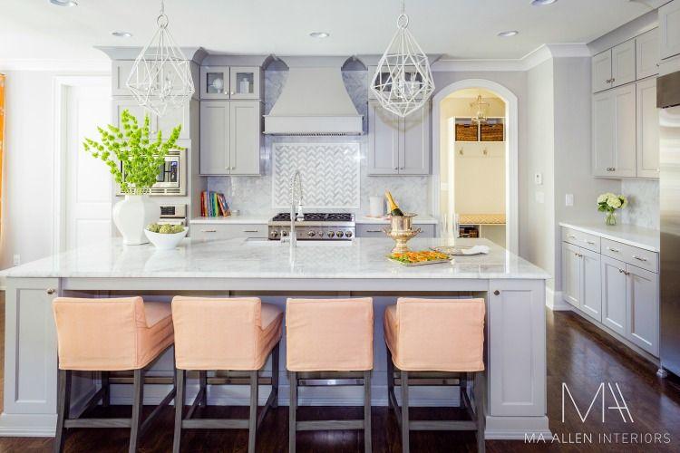 in good taste ma allen interiors  design chic  kitchen