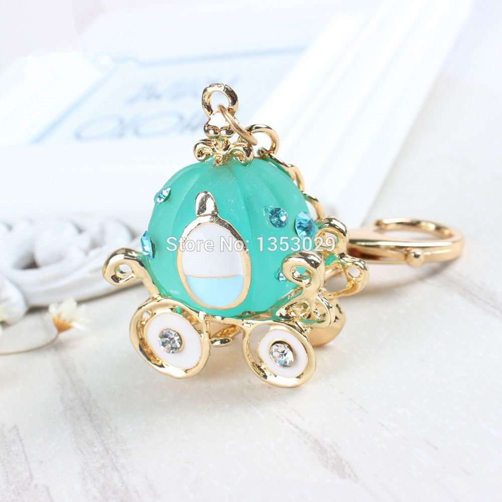 Free Shipping Cinderella Pumpkin Carriage Fashion Keychain Birthday ...