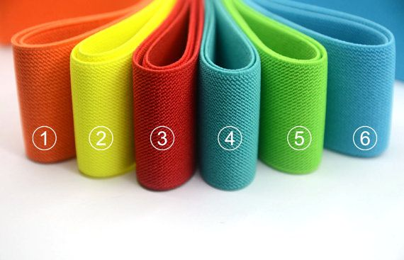 2 50mm wide Colored Elastic Band, Perfect width for making quick and easy waistbands for garments and other DIY sewing or craft projects .  It is