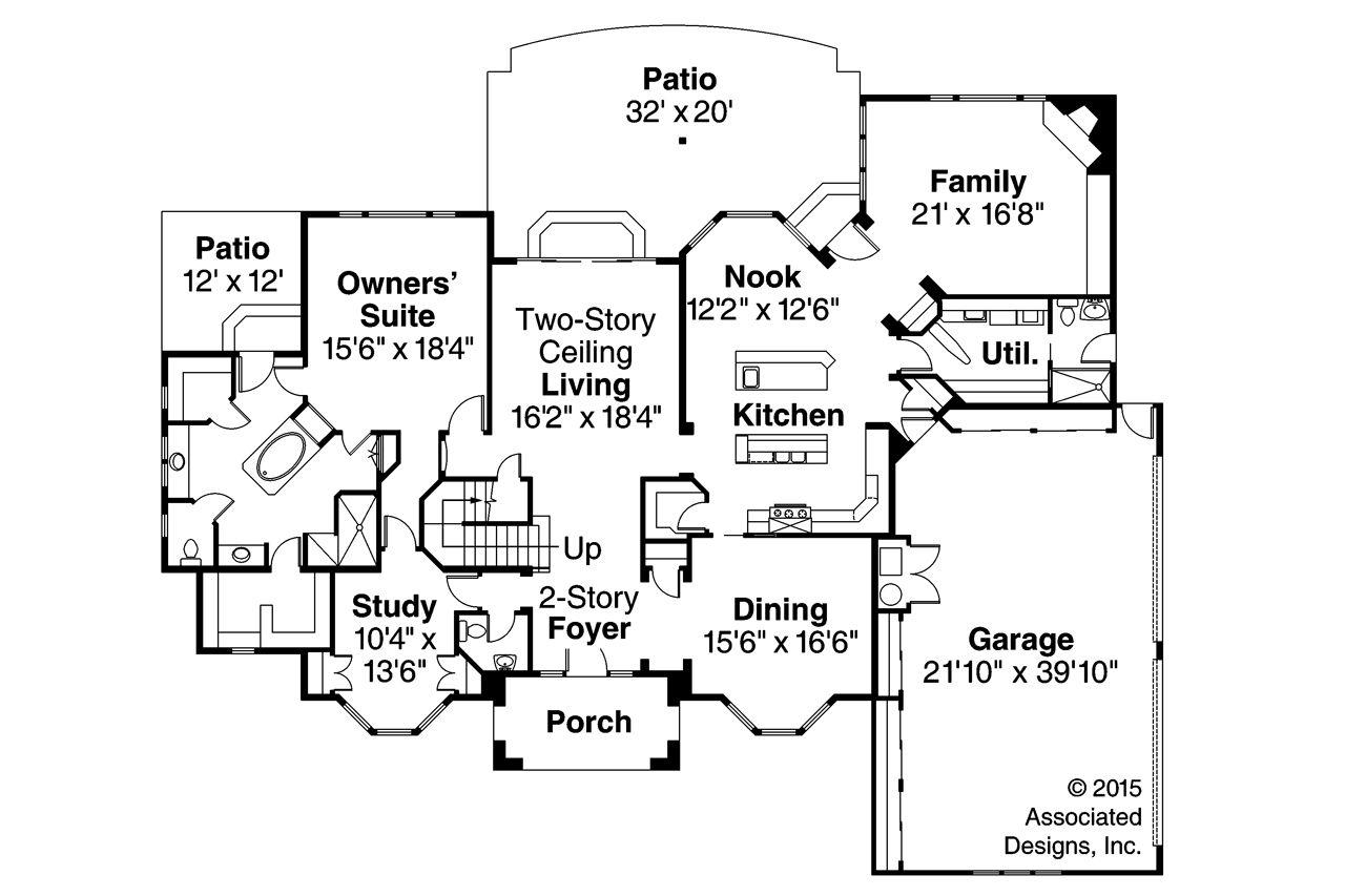 Mediterranean House Plan - Lucardo 30-181 by Associated Designs ...