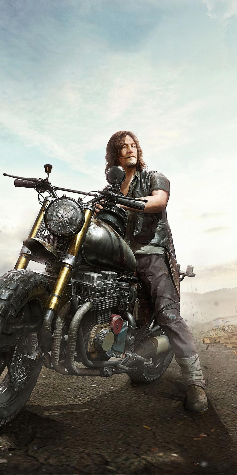 1080x2160 Daryl Dixon Pubg Mobile X The Walking Dead Crossov
