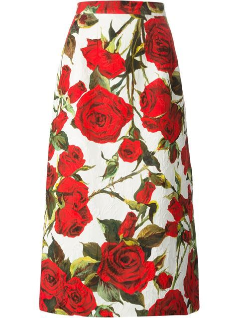 1241371942 Comprar Dolce & Gabbana falda con brocados y estampado de rosas en Parisi  from the world's best independent boutiques at farfetch.com.
