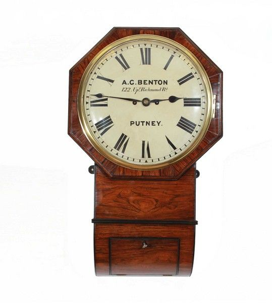 Fusee Striking Drop Dial Wall Clock Antique Clocks In 2018