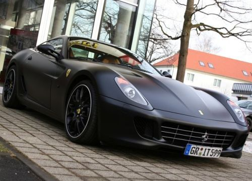 Ferrari 599 matte finish. Amazing.