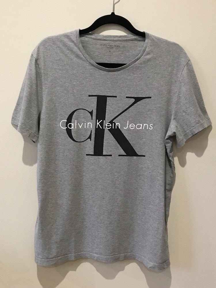 04ba02f9 CALVIN KLEIN T SHIRT GRAY CK LOGO MENS SIZE M #fashion #clothing #shoes  #accessories #mensclothing #shirts (ebay link)